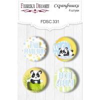 "Скрапфишки ""My Little Panda Boy"" 4шт., Фабрика Декору"
