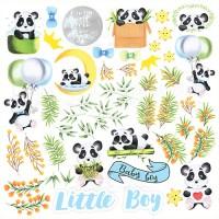 """Лист для вырезания """"My Little Panda Boy"""", Фабрика Декору"""