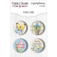 "Скрапфишки ""Botany Spring"" 4шт Фабрика Декору"