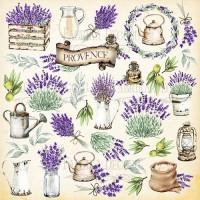 """Лист с картинками для вырезания """"Lavender provence"""" Фабрика Декору"""