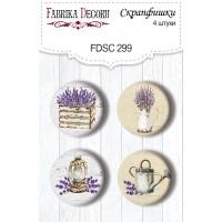 """Скрапфишки """"Lavender provence"""" 4шт Фабрика Декору"""