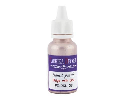 Жидкий жемчуг Бежевый с розовым 39 ml
