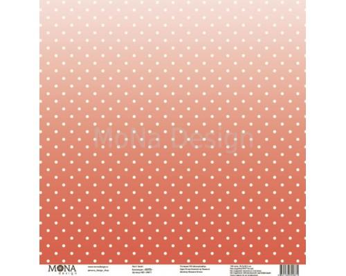 "Бумага односторонняя ""Dots. Закат"" 30,5х30,5см Mona Design"