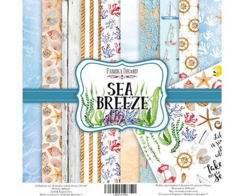 "Набор бумаги ""Sea Breeze"", 20*20см., Фабрика Декора"
