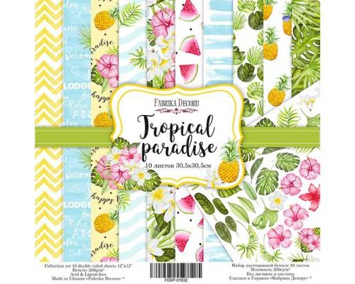 "Набор бумаги ""Tropical Paradise"", 20*20см., Фабрика Декора"
