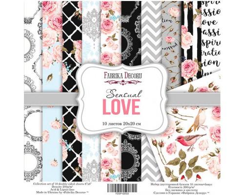 """Набор бумаги """"Sensual Love"""", 20*20 см., Фабрика Декора"""