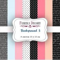 "Набор бумаги ""Backgrounds 5"", 15*15 см., Фабрика Декора"