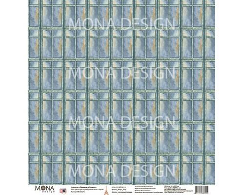 """Бумага односторонняя  """"Однажды в Париже. Окно в Париж """" Mona Design."""