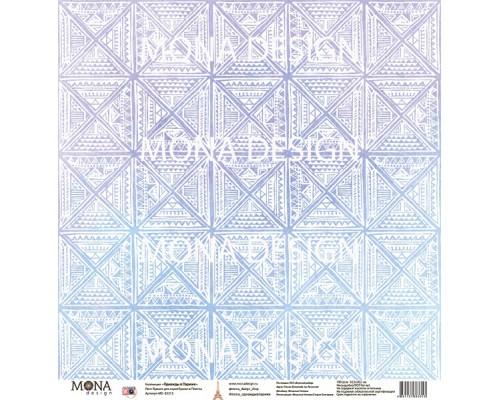 """Бумага односторонняя  """"Однажды в Париже. Плитка"""" Mona Design"""