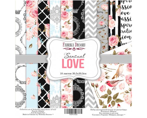 """Набор бумаги """"Sensual Love"""", 30,5*30,5см., Фабрика Декора"""