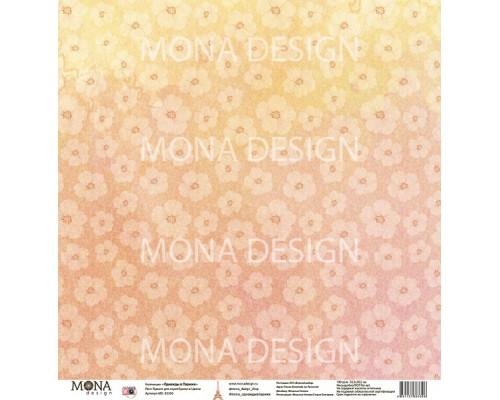 """Бумага односторонняя  """"Однажды в Париже. Цветы"""" Mona Design"""