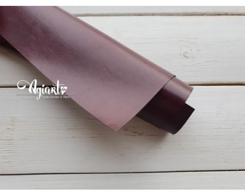 Кожзам, Бордовый глянцевый 50*35 см. Италия