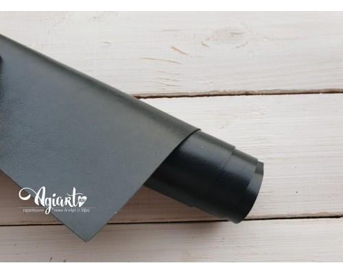 Кожзам, Темно-зеленый глянцевый 50*35 см. Италия