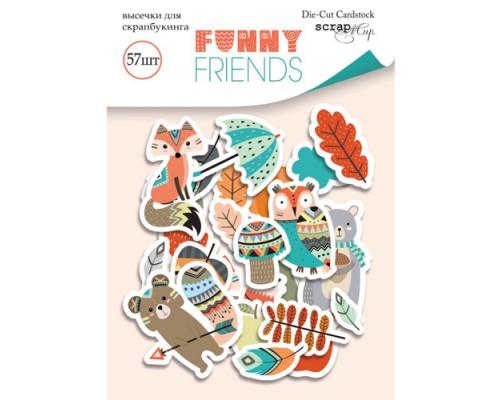 """Высечки бумажные """"Funny Friends"""" 57шт., Scrapmir"""