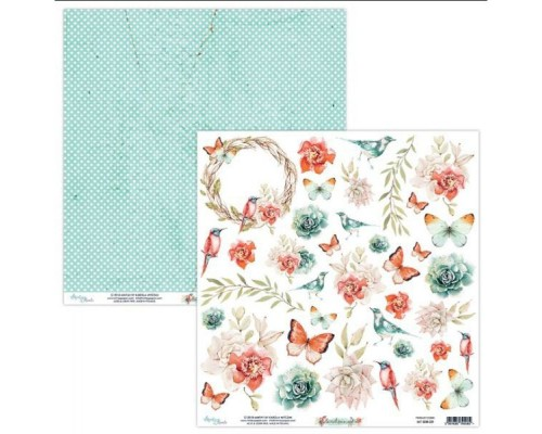 "Бумага двусторонняя коллекция ""Birdsong"" 30.5 х 30.5 см., Mintay paper"