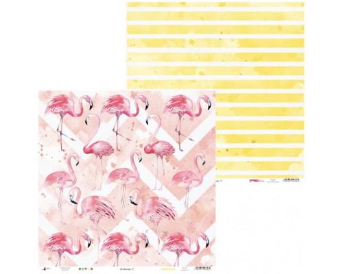 """Бумага двусторонняя коллекция """"Let's flamingle"""" 30.5 х 30.5 см., Piatek Trzynastego"""