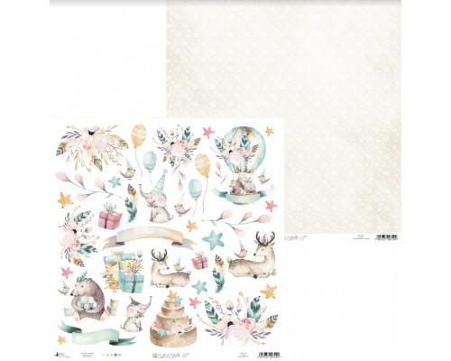 """Бумага двусторонняя коллекция """"Cute & Co."""" 30.5 х 30.5 см., Piatek Trzynastego"""