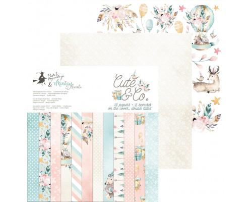 """Набор бумаги """"Cute & Co."""" 15.3 х 15.3 см., 24 листа, P13"""