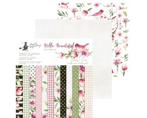 "Набор бумаги ""Hello Beautiful"" 15.3 х 15.3 см., 24 листа, P13"