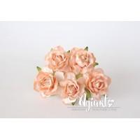 Кудрявые розы 4 см - Св.оранжевые, 5 шт.