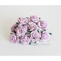 Розы светло-сиреневые 2 см., 5 шт.