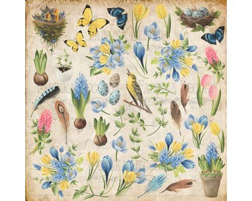 """Лист для вырезания """"Botany Spring"""" Фабрика Декору"""