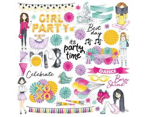 """Лист для вырезания """"Party Girl"""", Фабрика Декору"""