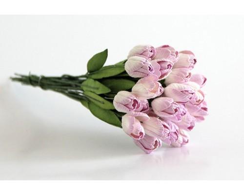 """Тюльпаны """"светло-сиреневые"""", 5 штук"""