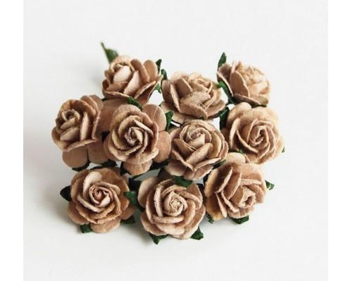 розы кофе с молоком 1,5 см, 10шт.