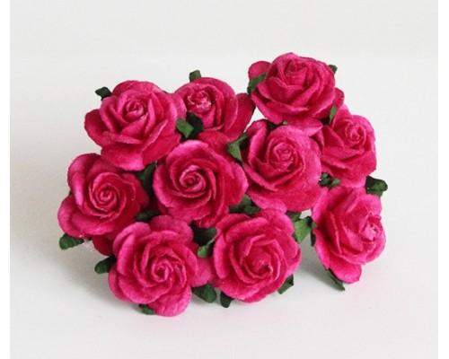 Розы фуксия 2 см, 5 шт.