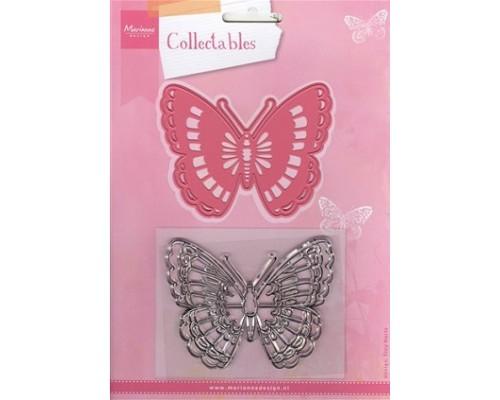 "Нож для вырубки +  штамп ""Tiny's Butterfly"" от Marianne Design"