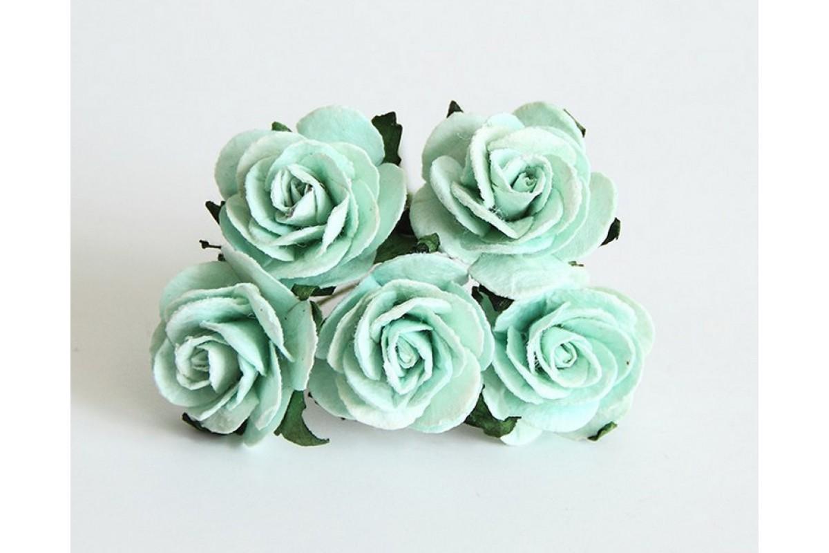 """Розы """"мятные"""" размер 2,5 см 5 шт"""