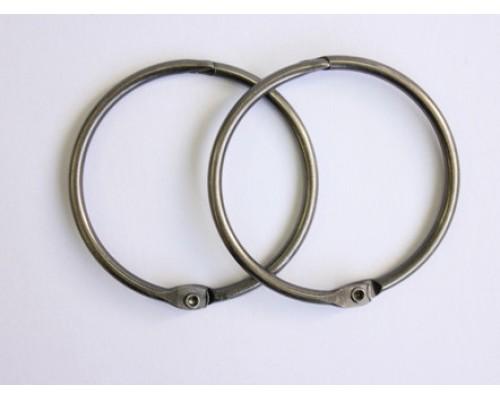 Кольца 5 см. темное серебро, 2 шт