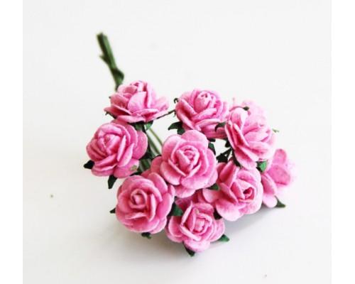Розы розовые 1 см 10 шт.