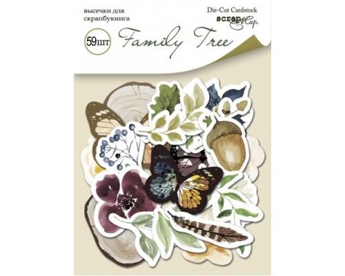 "Высечки бумажные ""Family Tree"" 59шт., Scrapmir"