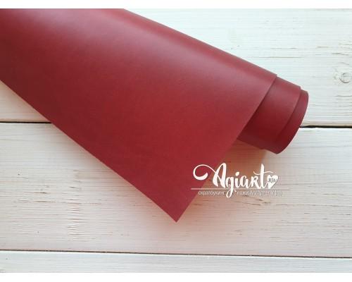 Кожзам, Темно-красный матовый 50*35 см. Италия