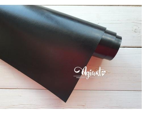 Кожзам, Черный глянцевый 50*35 см. Италия