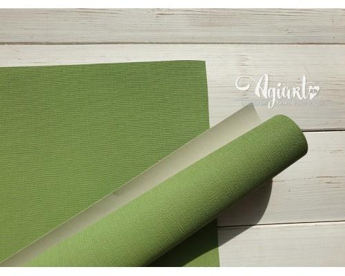 Переплетный материал с тканевой текстурой 35*50 см, св.зеленый, Нидерланды