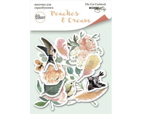 """Высечки бумажные """"Peaches&Cream"""" 69шт., Scrapmir"""