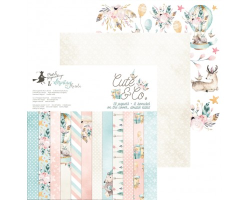 "Набор бумаги ""Cute&Co"" 30.5 х 30.5 см 6 листов, 1/2 полного набора, P13"
