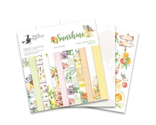 "Набор бумаги ""Sunshine"" 30.5 х 30.5 см 6 листов, 1/2 полного набора, P13"