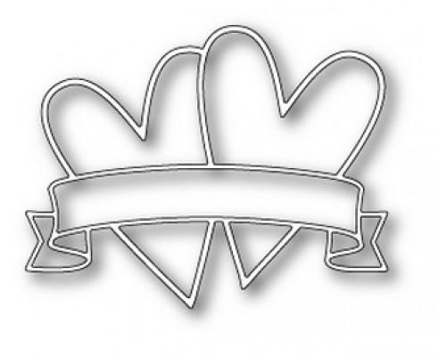 """Формы для вырубки """"Heart Banner"""" Memorybox"""