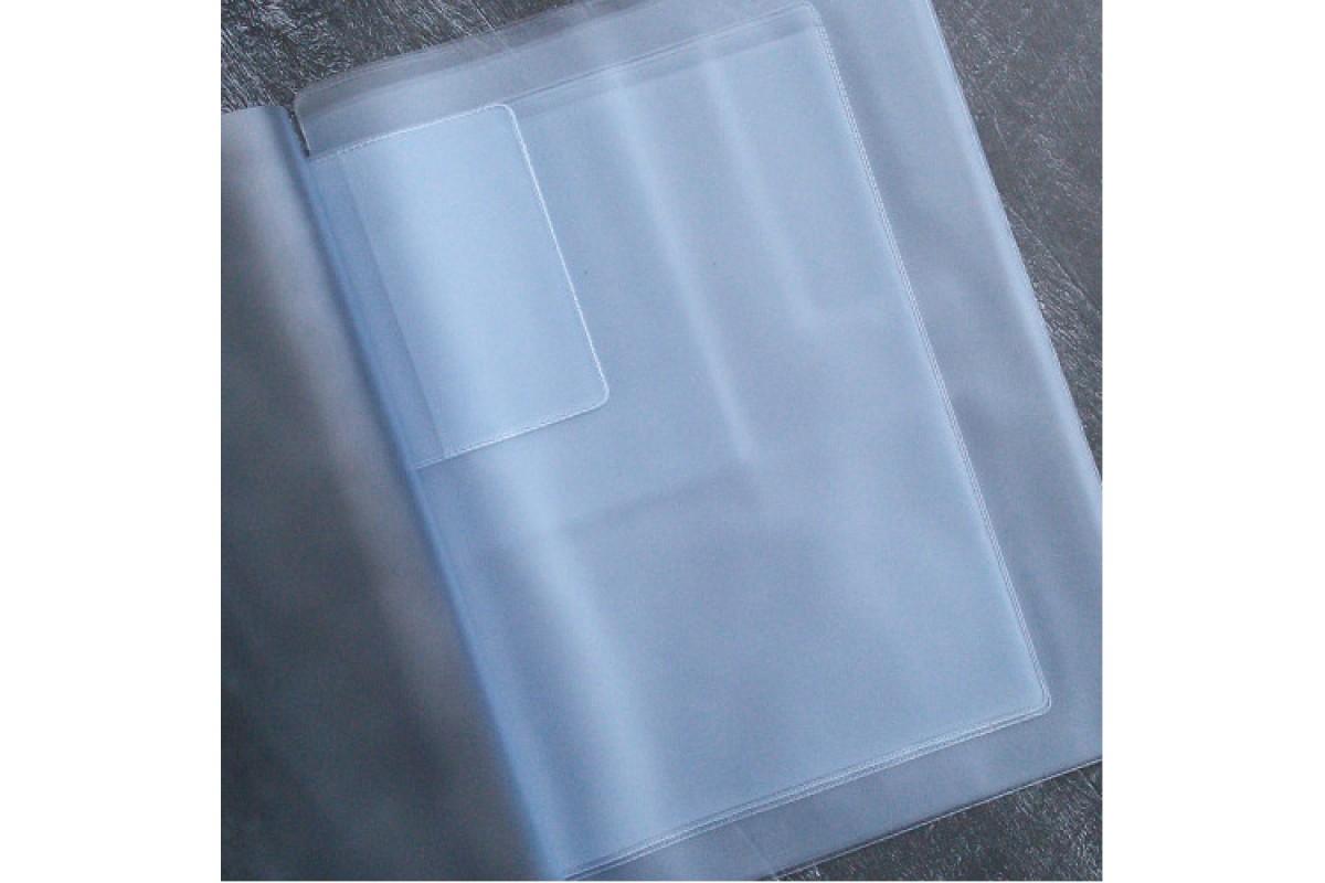 Вкладыш для 2-х комплектов  детских документов, 21,7х30,4 см.,(формат А4)  прозрачный 1 шт.