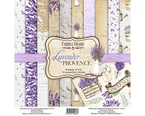 "Набор бумаги ""Lavender provence"", 30,5*30,5см., Фабрика Декора"