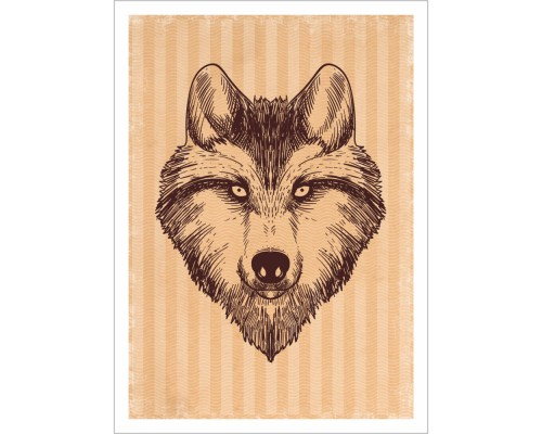 """Тканевая карточка """"Дневник туриста. Волк"""", ScrapMania"""