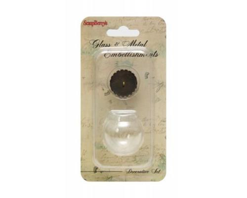 Набор стеклянный кулон + шар 30 мм