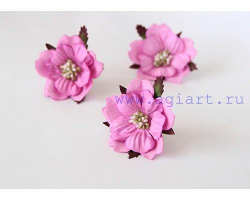 Бумажный Пион, розовый 1 шт