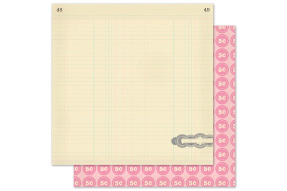 "бумага Pink Paislee ""коллекция Vintage Vogue: ""Corner Boutique"""