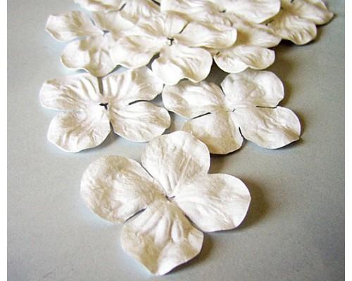 Гортензии белые большие 5 см 10 шт