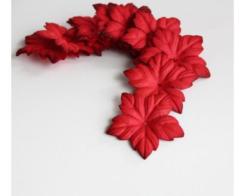 Лепестки пуансетии - красные, 10 шт